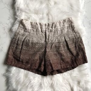 Anthropologie Coquille Brown Ombré Shorts